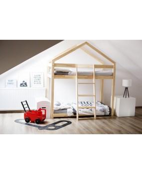 Łóżko drewniane Domek pietrowe Mila DMP