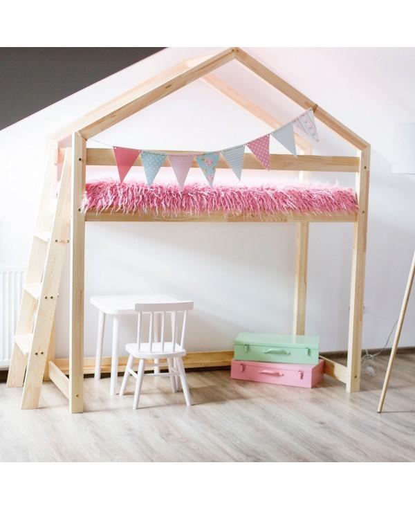 Łóżko drewniane Domek pietrowe Mila DMPBA