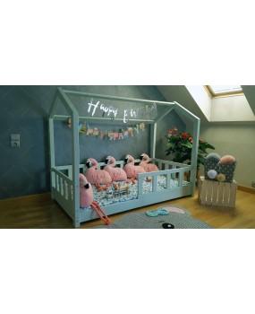 Łóżko domek Bella w stylu skandynawskim Miętowe
