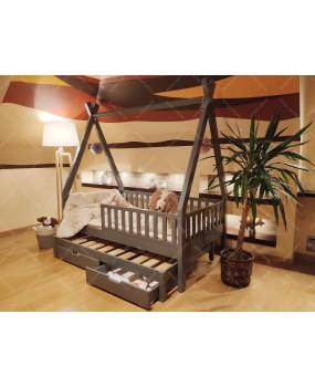 Łóżko domek drewniane dla dzieci TIPI 3 Naturalny