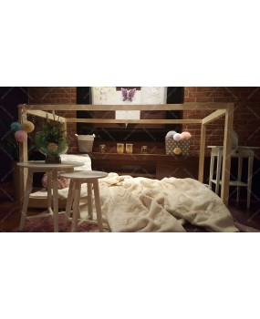 Łóżko domek drewniane dla dzieci Mila KM