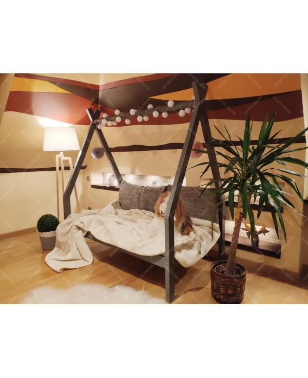 Łóżko domek drewniane dla dzieci TIPI 7 Naturalny