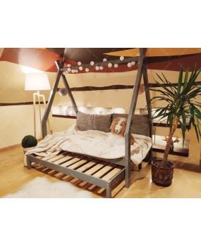 Łóżko domek drewniane dla dzieci TIPI 8 Naturalny