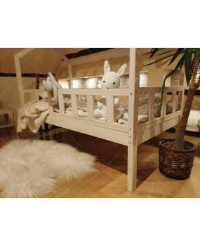 Łóżko domek Bella z Barierkami Noga 37cm