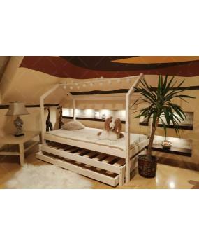 Łóżko domek Bella Szufladą i drugim spaniem