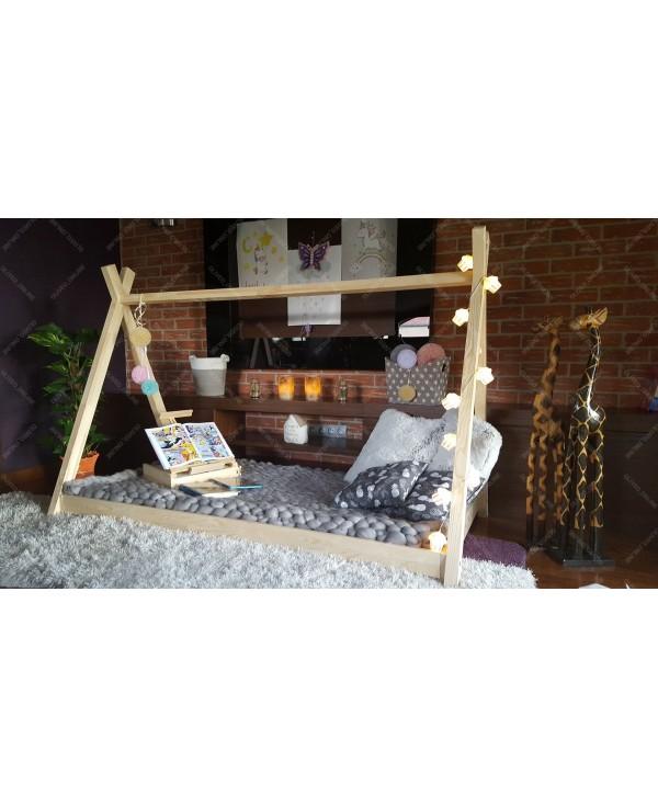 Łóżko domek drewniane dla dzieci TIPI